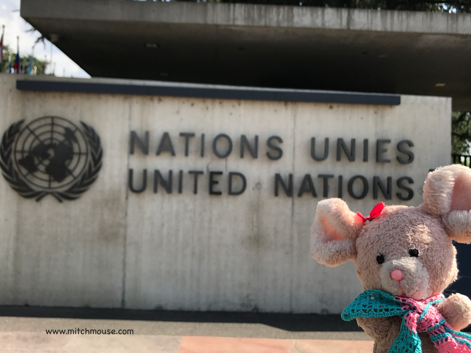 Hi Mitch! at United Nations in Geneva, Switzerland