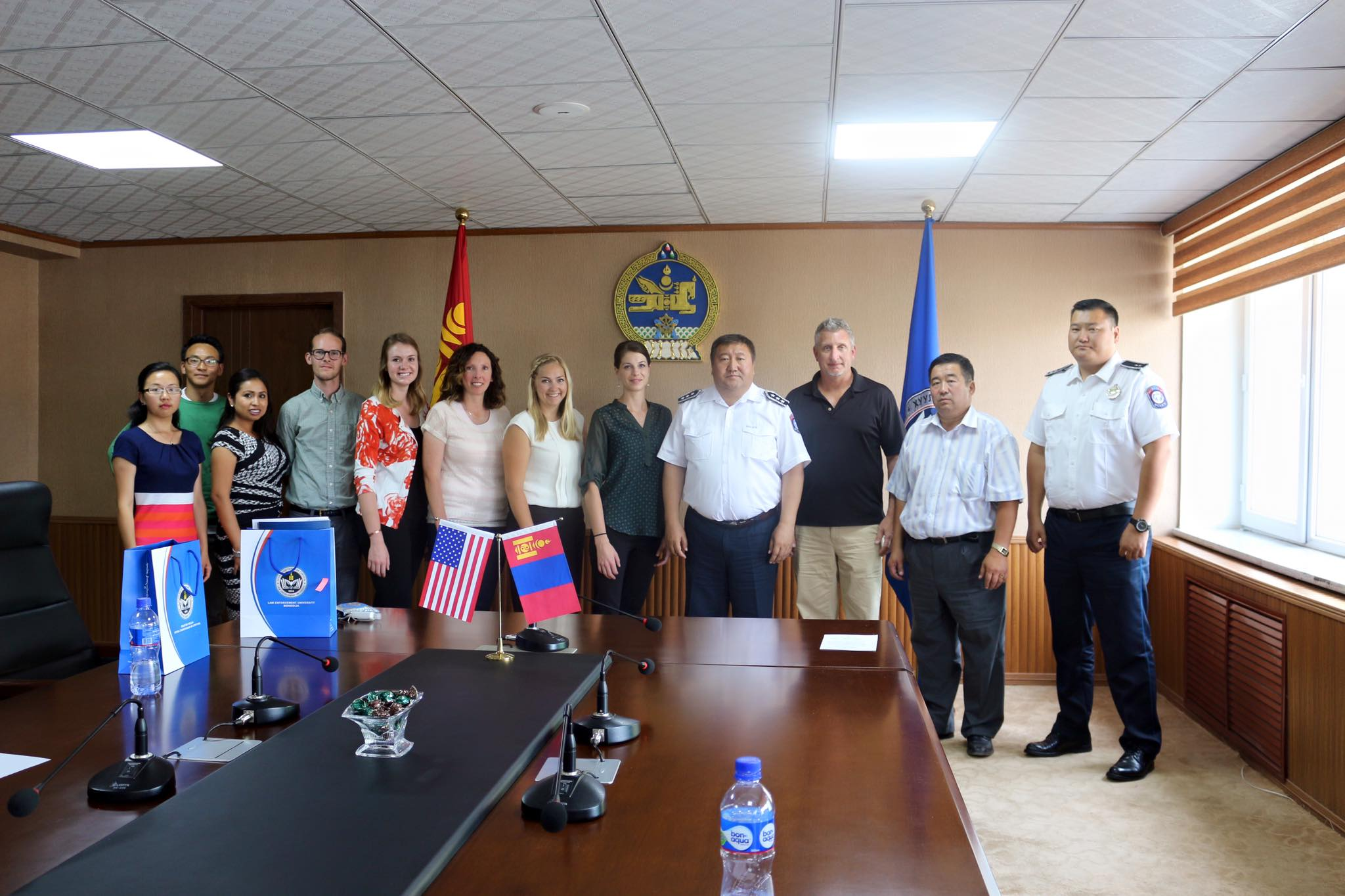 Study Abroad Group with the Chief of Child Welfare at the Law Enforcement Academy in Ulaanbaatar