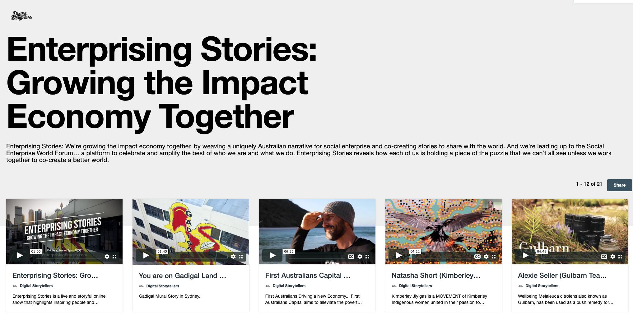 Enterprising Stories Showcase