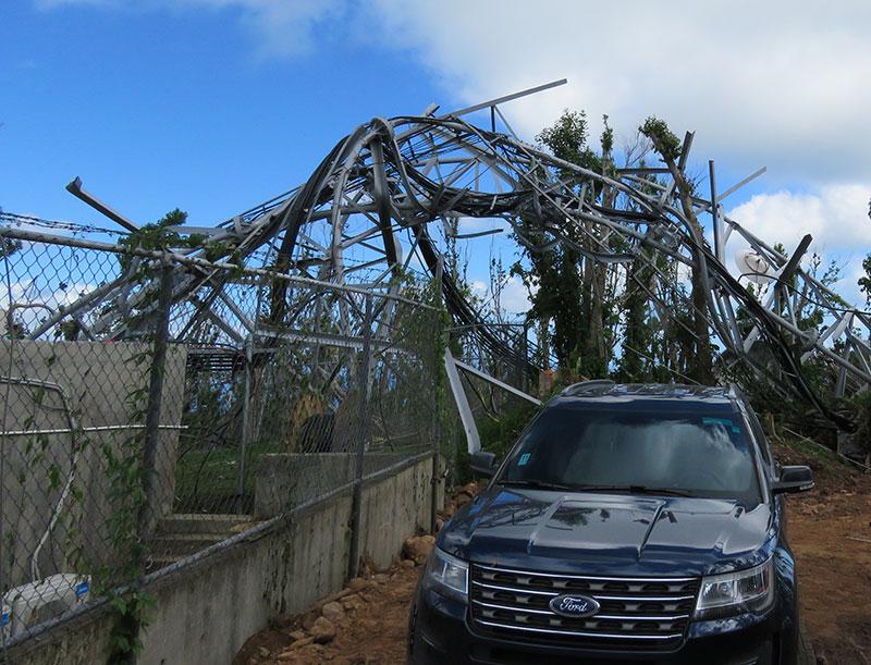 Hurricane Maria wrecked tower